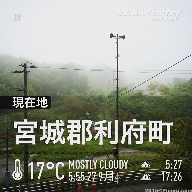 おはようございます。今朝は霧が多いですね。
